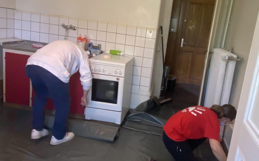 Travaux bénévoles à la villa Baulacre